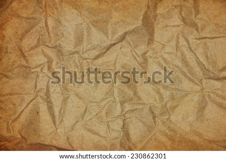 vintage background with crumpled paper use for text or image - stock photo
