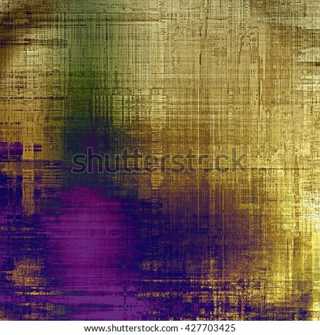 Vintage background with dirty grungy texture or overlay and different color patterns: yellow (beige); brown; green; blue; purple (violet); pink - stock photo