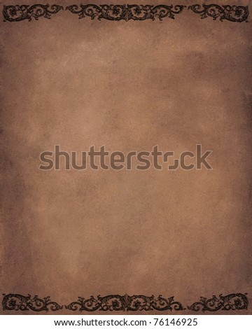 Vintage background with floral frame - stock photo
