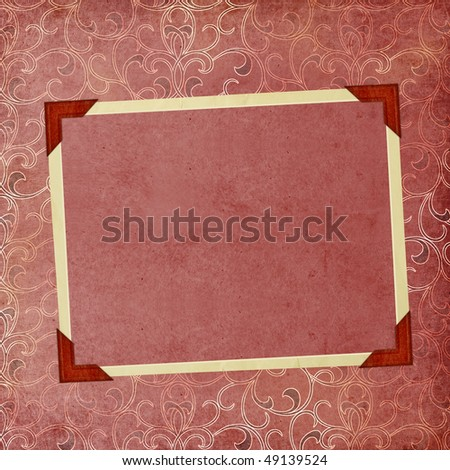 Vintage Background with frame - stock photo