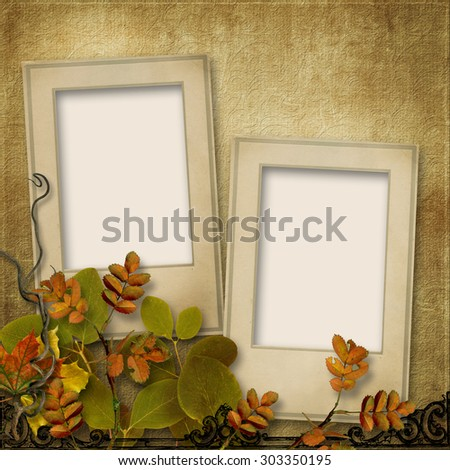 Autumn backgrounds frame