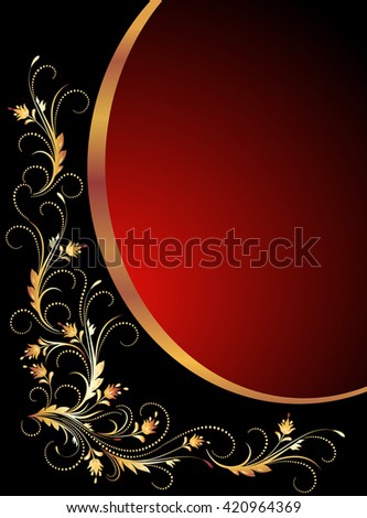 Vintage background with golden ornament