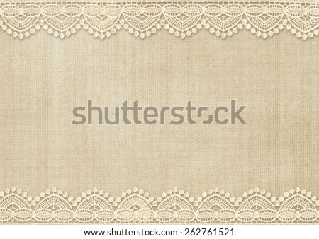 Vintage background with gorgeous lace - stock photo