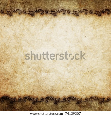 vintage background with ornate frames - stock photo