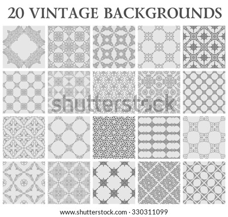 Vintage backgrounds. Seamless pattern ornament and decoration wallpaper design - stock photo