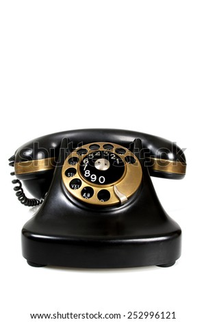 vintage bakelite telephone - stock photo