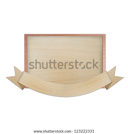 vintage banner label frame, wood cut style collection isolated on white background. - stock photo