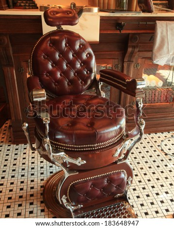 Vintage Barber Chair Stock Photo 100 Legal Protection 183648947