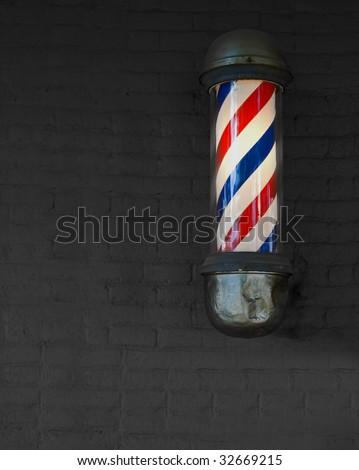 Vintage Barber Pole - stock photo