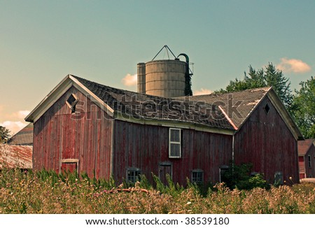 Vintage barn in Michigan - stock photo