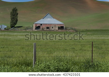Vintage Barn. In the palouse area of eastern Washington state there are many old abandoned and dilapidated barns left to decay somewhat reminiscent of the dust bowl of the 1930's.