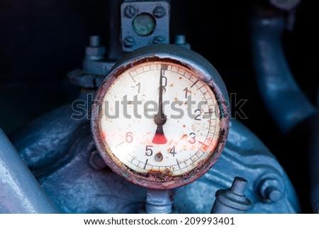 Vintage barometer. - stock photo
