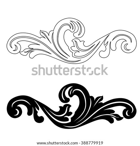 Decorative scroll stock images royalty free images for Decorative scrollwork