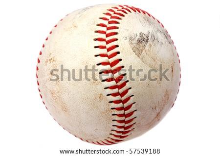 Vintage baseball closeup - stock photo