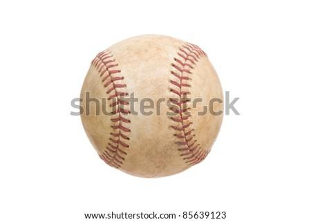 Vintage Baseball Isolated on a White Background - stock photo