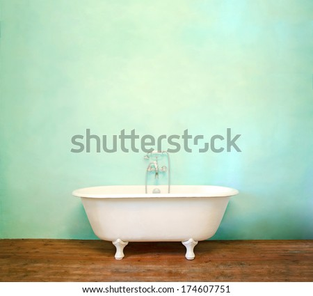 Vintage bath - stock photo