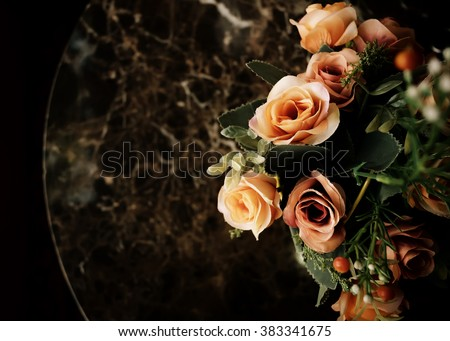Vintage beautiful flowers background - vintage effect style. - stock photo