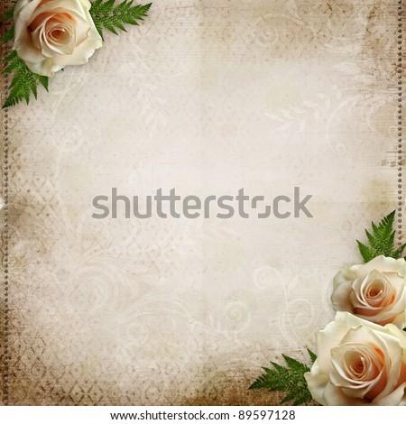 vintage beautiful wedding background - stock photo