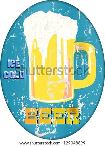vintage beer / pub / bar sign - stock photo