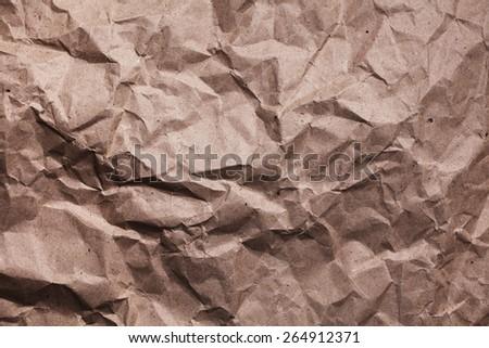 Vintage beige paper background. Wrinkled beige paper - stock photo