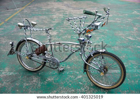 vintage bicycle Lowrider - stock photo