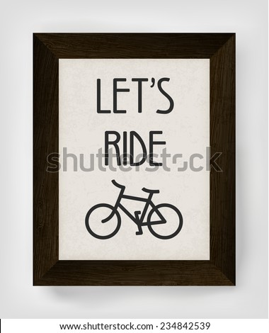 Vintage bicycle poster illustration. Raster version - stock photo