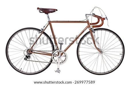 vintage bikes Copper - stock photo