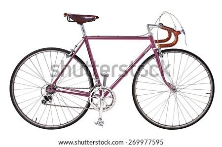 vintage bikes Pink - stock photo