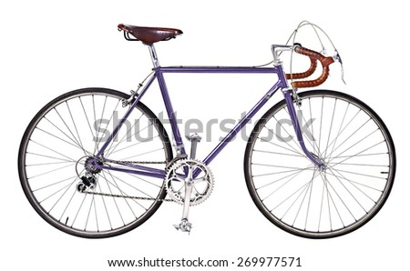 vintage bikes Violet - stock photo
