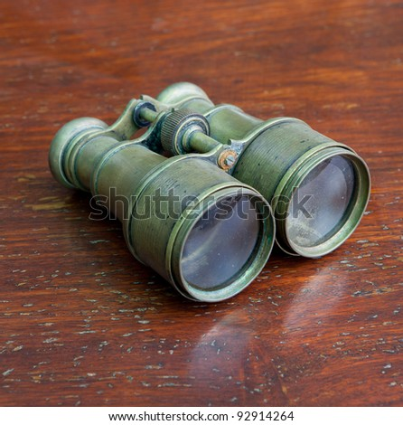 Vintage binoculars - stock photo