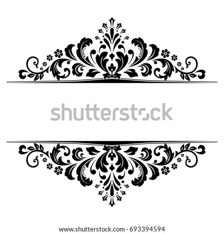 vintage black frame. Vintage Black Frame On A White Background. Graphic Design.