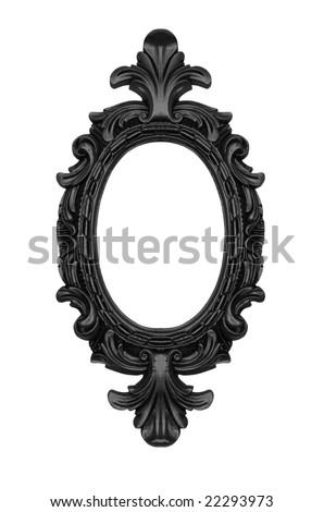 Vintage black ornate frame, similar available in my portfolio - stock photo