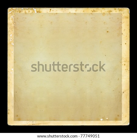 Vintage blank dirty photo with white border. Grunge background design element.