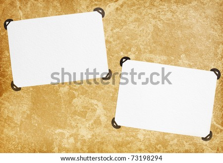 vintage blank page from photoalbum - stock photo
