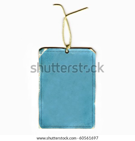Vintage Blank Real Tag - stock photo