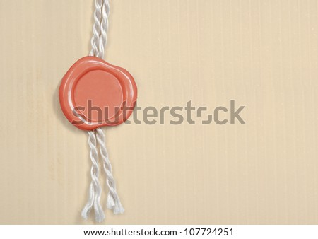 Vintage blank red wax seal - stock photo