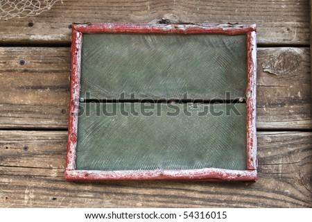 Vintage blank sign - stock photo