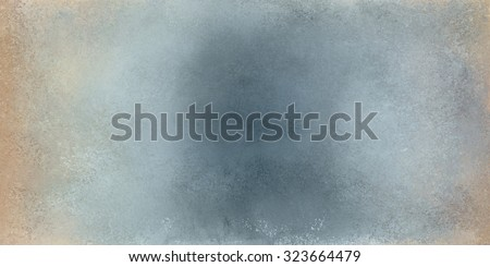 vintage blue gray background texture with brown border grunge - stock photo