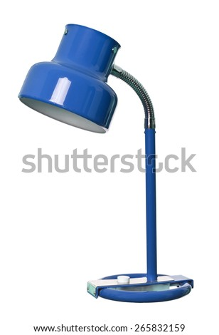 Vintage Blue lamp isolated on a white background - stock photo