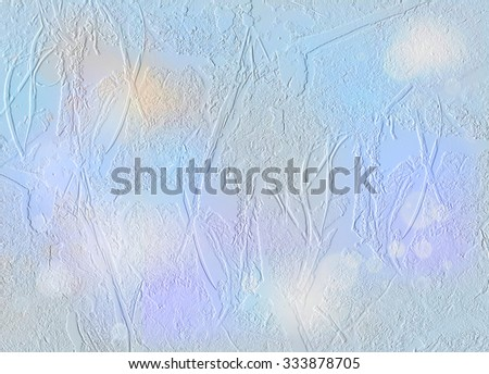vintage Blue light cold winter background snow, ice, crack - stock photo