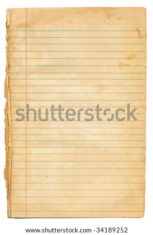 Vintage Blue Lined Paper - stock photo