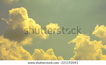 vintage blue sky and clouds - stock photo
