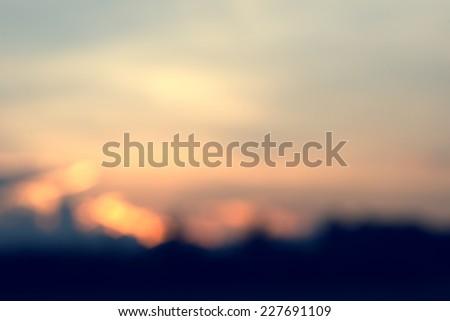 vintage blur background in summer - stock photo
