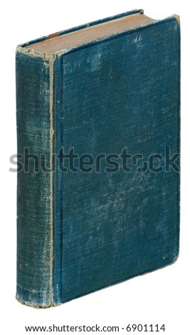 Vintage book at 3D angle. - stock photo