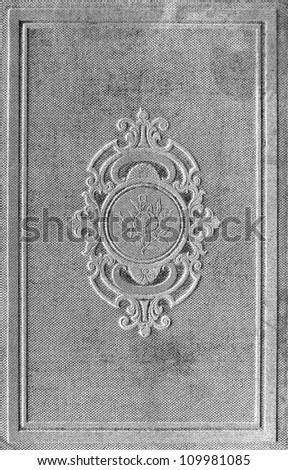 vintage book cover with floral ornament. textured background - stock photo