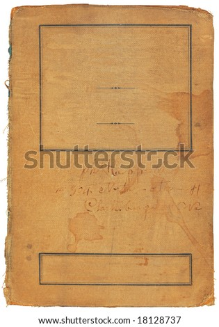 Vintage book cover with room for adding your own text. - stock photo