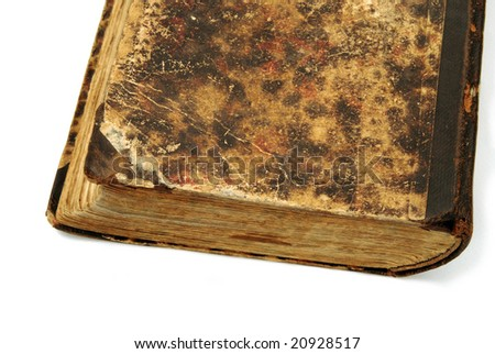 Vintage book on white background