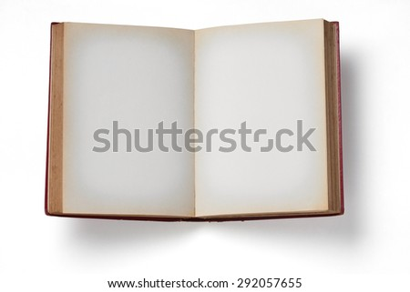 Vintage Book on white background.