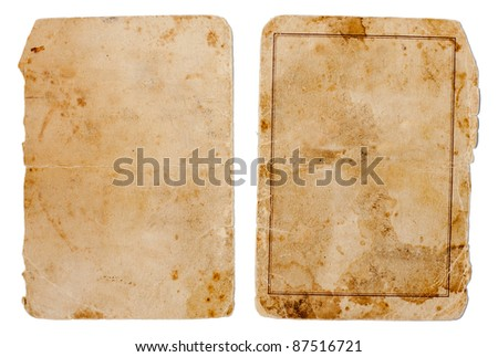 vintage book or copybook cover isolated on white - stock photo