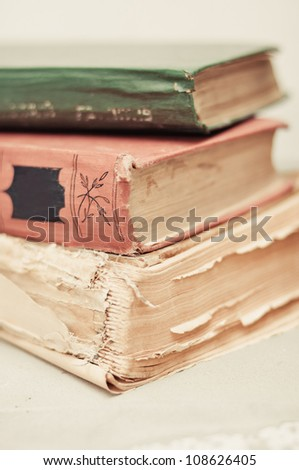 Vintage books - stock photo